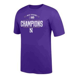 Northwestern Wildcats Official Locker Room Big Ten West Champions Short Sleeve Tee
