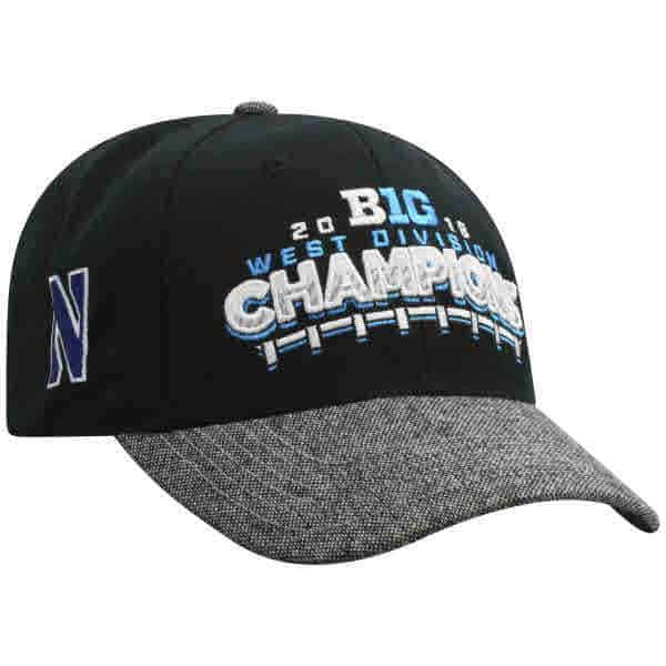 new concept 1b368 2dfbc ... new zealand northwestern wildcats official locker room big ten west  champions hat 06761 c5403