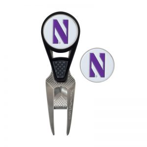 Northwestern Wildcats CVX® Ball Mark Repair Tool & Ball Markers