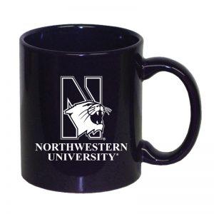 Northwestern University Wildcats 11 oz. Purple Ceramic Coffee Mug with Mascot Design