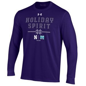 Northwestern University Wildcats Holiday Bowl Adult Long Sleeve Tee Shirt by Under Armour