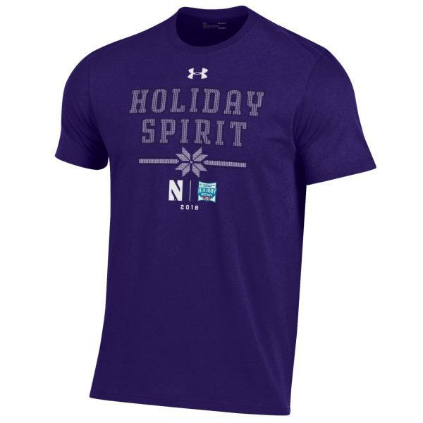 Northwestern University Wildcats Holiday Bowl Adult Short Sleeve Tee Shirt by Under Armour