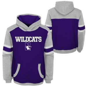 Northwestern University Wildcats Youth Two Tone Purple & Grey Hooded Sweatshirt