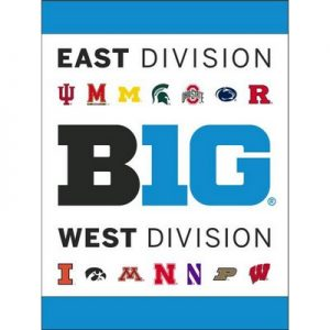 "Big Ten Conference 30""X40"" Banner Showing the East and West Division Teams"