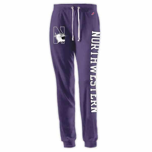 Northwestern Wildcats Ladies League Purple Heather Triblend Jogger Pants