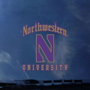 Northwestern University Wildcats Outside Application Decal with Gothic Northwestern University Design with Stylized N