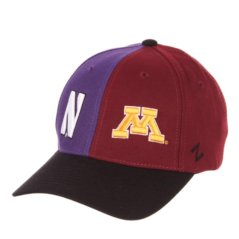 huge selection of c092c 60895 Northwestern University Wildcats House Divided Hat with Minnesota Golden  Gophers