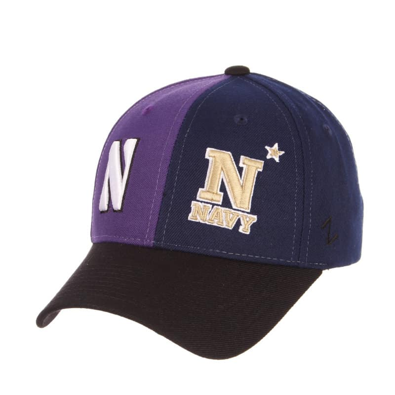 Northwestern Wildcats House Divided Hat with Navy Midshipmen 927368010