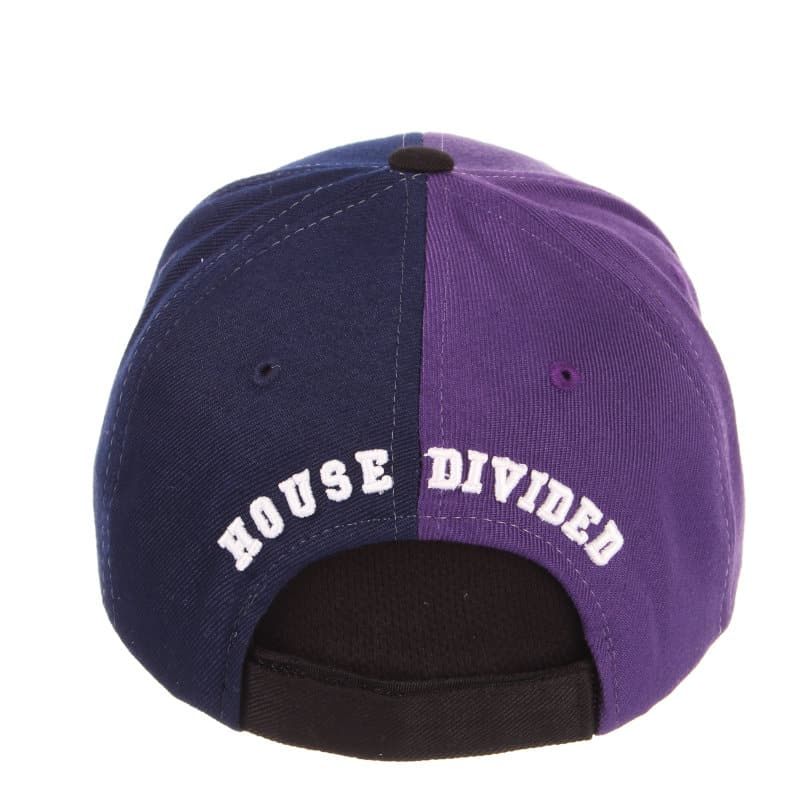 d671354fcf2 Northwestern Wildcats House Divided Hat with Straight Back View