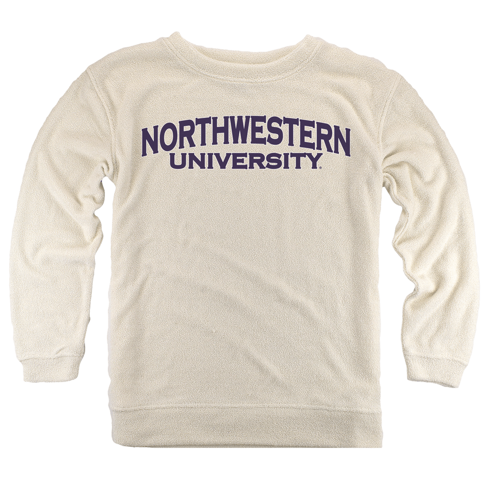 Northwestern Wildcats Cozy Crew in Oatmeal from Boxercraft 942c9415d3f0