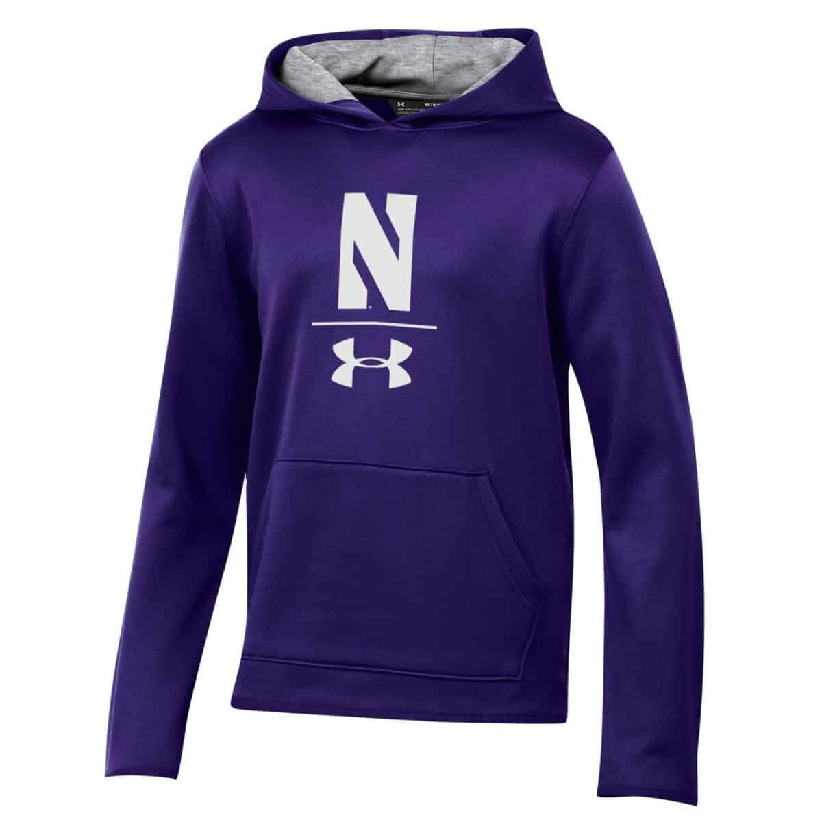 a5fda34ec Northwestern University Wildcats Youth Under Armour Tactical Tech™ Purple Hooded  Sweatshirt with Stylized N Design