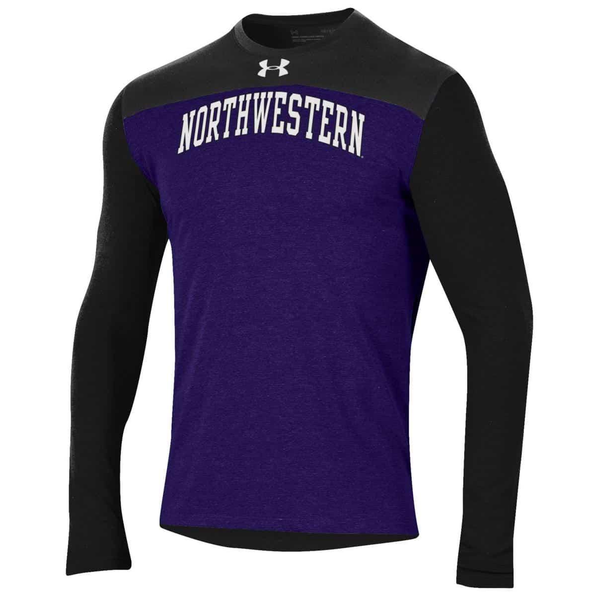 8ffa704113081 Northwestern Wildcats Men s Under Armour Freestyle Blocked Purple ...