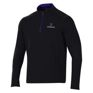 Northwestern University Wildcats Men's Under Threadborne Ridge Black Pullover 1/4 Zip