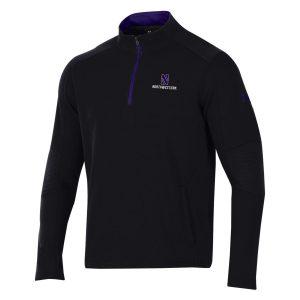 Northwestern University Wildcats Men's Under Threadborne Ridge Black Pullover 1/4 Zip