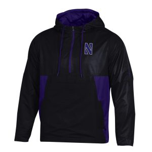 Northwestern University Wildcats Men's Under Armour Black Pullover Anorak Jacket