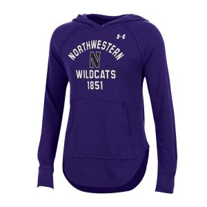 Northwestern University Wildcats Ladies Under Armour Purple Waffle Hood