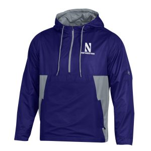 Northwestern University Wildcats Men's Under Armour Purple Pullover Anorak Jacket