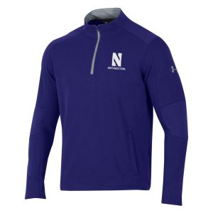 Northwestern University Wildcats Men's Under Threadborne Ridge Purple Pullover 1/4 Zip