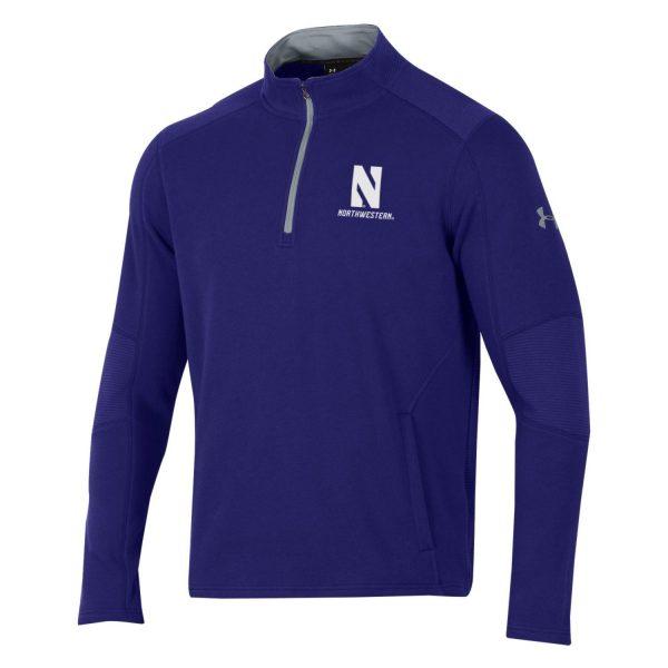 Northwestern University Wildcats Men's Under Threadborne Ridge Purple Pullover 1/4 Zip
