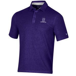 Northwestern University Wildcats Men's Under Armour Triblend Purple Heather Polo shirt