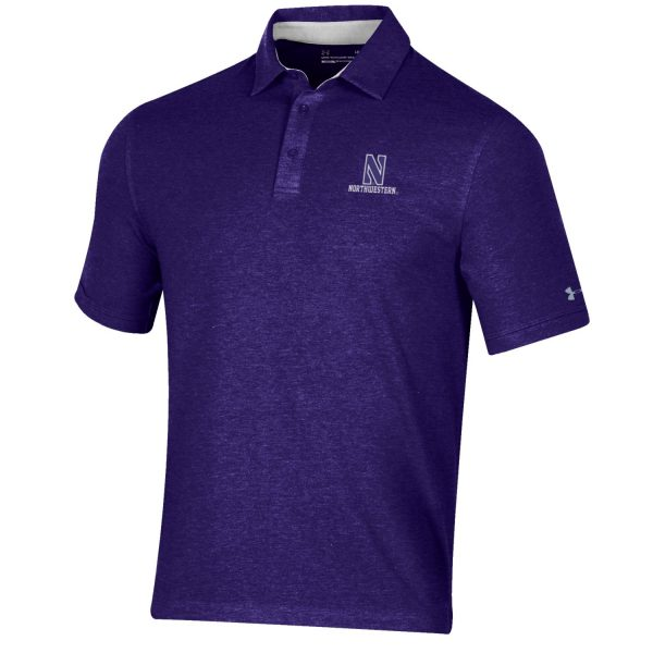 Northwestern University Wildcats Men's Under Armour Triblend Purple Heather Polo shirt