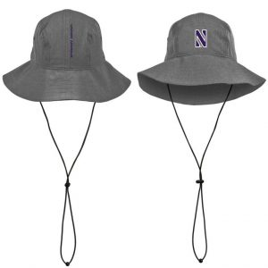 Northwestern Wildcats Under Armour Airvent Warrior Grey Bucket Hat with Stylized N Design