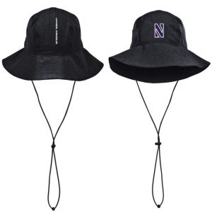 Northwestern Wildcats Under Armour Airvent Warrior Black Bucket Hat with Stylized N Design