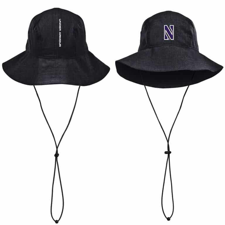 ae5c9e017 Northwestern University Wildcats Under Armour Airvent Warrior Black Bucket  Hat with Stylized N Design