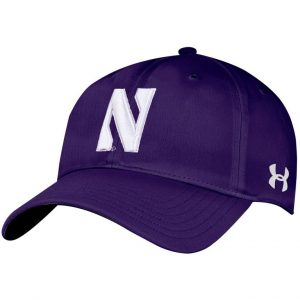 Northwestern Wildcats Under Armour Purple Flexfit Hat with Stylized Northwestern N Design