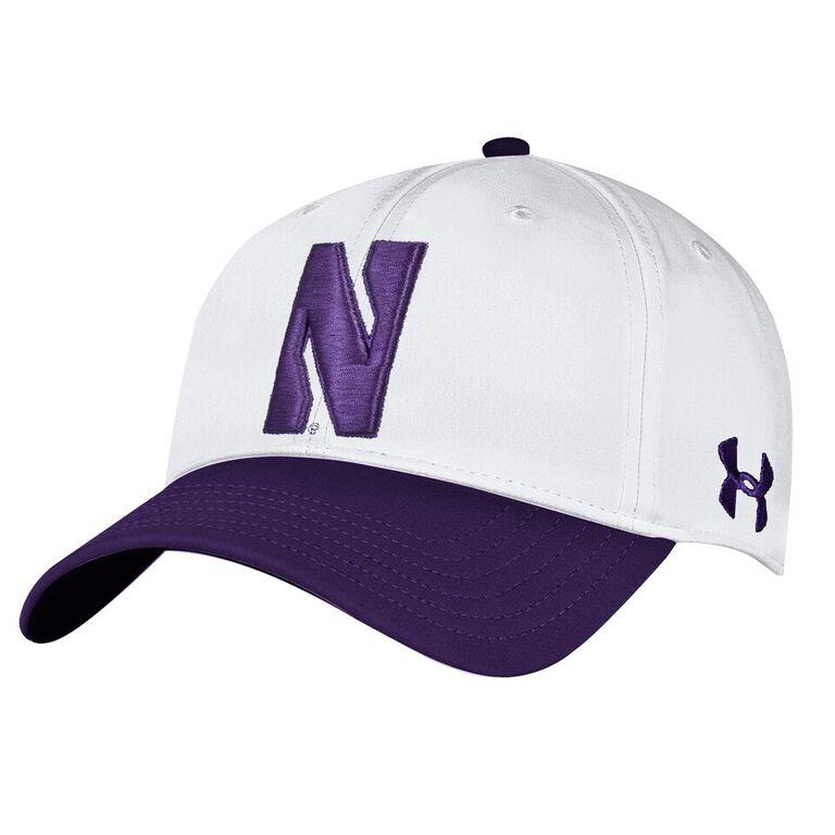 7829730c Northwestern University Wildcats Under Armour Adjustable Two-Tone White &  Purple Hat with Stylized Northwestern N Design