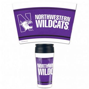 Northwestern Wildcats Travel Mug Contour with the N-cat Design