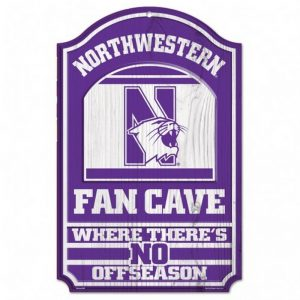 "Northwestern Wildcats 11"" x 17"" Full Color Wooden Sign"