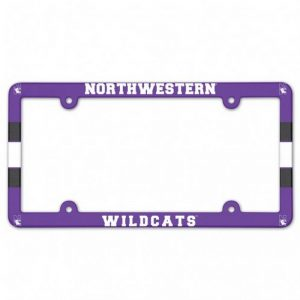 Northwestern Wildcats Full Color Plastic Universal License Plate Frame