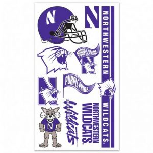 Northwestern Wildcats Gang Sheet of Temporary Tattoos