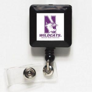 Northwestern Wildcats Retractable Square Badge/ID Holders