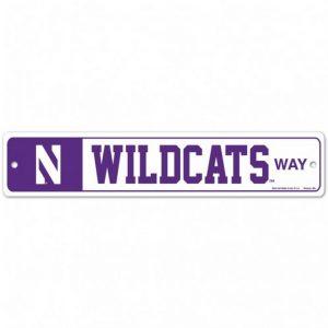 """Northwestern Wildcats 3.75"""" x 19"""" Wildcats Way Street Sign"""