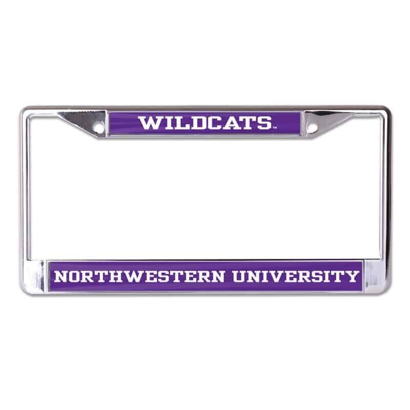 Northwestern Wildcats Chrome License Plate Frame With