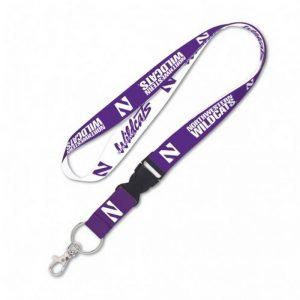 "Northwestern Wildcats 1"" Full Color Lanyard w/detachable buckle"
