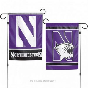 Northwestern Wildcats Dual Design Garden Flag
