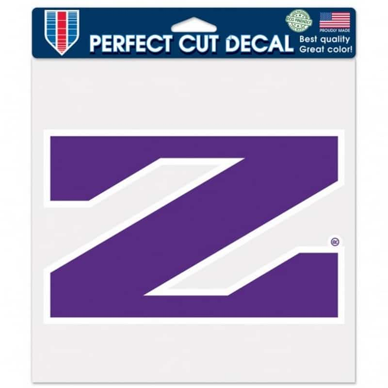 "Northwestern Wildcats Perfect Cut Color Decal 8"" x 8"" with Stylized N Design"