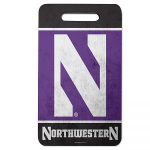 "Northwestern Wildcats Purple & Black Seat Cushion - Kneel Pad with Stylized N Design 10""x17"""