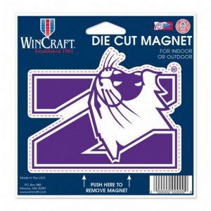 """Northwestern Wildcats Die Cut Magnet with N-Cat Design 4.5"""" x 6"""""""