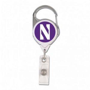 Northwestern Wildcats Retractable Two Sided Premium Badge/ID Holders