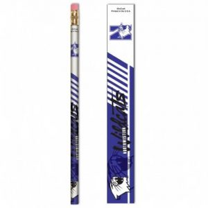Northwestern Wildcats Wooden Pencil with N-Cat & Northwestern Wildcats Design Pack of 6