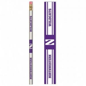 Northwestern Wildcats Wooden Pencil with Stylized N & Northwestern Wildcats Design Pack of 6