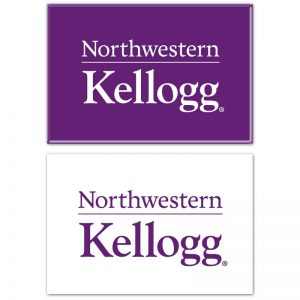 "Northwestern Wildcats Rectangle Magnet, 2pack 2"" x 3"" Kellogg Design"