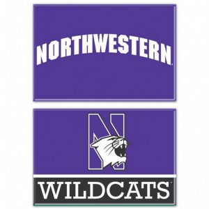 "Northwestern Wildcats Rectangle Magnet, 2pack 2"" x 3"" Northwestern & N-Cat Design"
