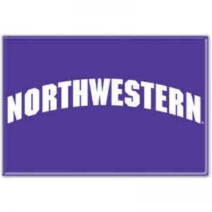 "Northwestern Wildcats Rectangle Magnet, 2"" x 3"" Arched Northwestern Design"