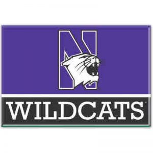 "Northwestern Wildcats Rectangle Magnet, 2"" x 3"" N-Cat Wildcats Design"