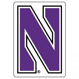 Northwestern Wildcats Premium Acrylic Magnet with Multi Color Stylized N Design